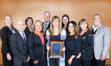 Members of the Dignity Health team were presented with the Healthcare Innovation Award from CenCal Health on May 18. Photo by Sean Kirkpatrick.